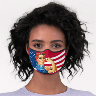 Rosie the Riveter Vintage Feminism Premium Face Mask