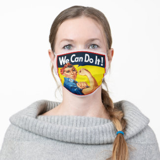 Rosie the Riveter We Can Do It Face Mask