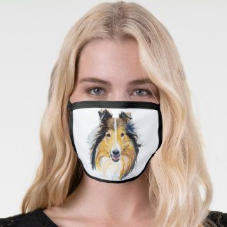 ROUGH COLLIE DOG FACE MASK