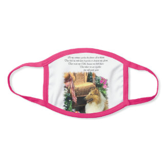 Rough Collie Summer Face Mask