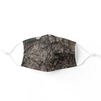 Rough Grey Tree Bark Adult Cloth Face Mask