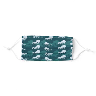Rows Of Octopus Pattern Adult Cloth Face Mask