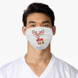 Rudolph Reindeer Christmas Holiday Adult Cloth Face Mask