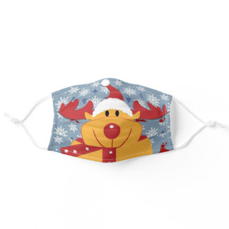 Rudolph the Reindeer COVID Safe Adult Cloth Face Mask