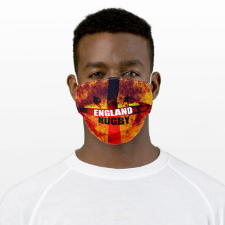 Rugby England Male Silhouettes Adult Cloth Face Mask