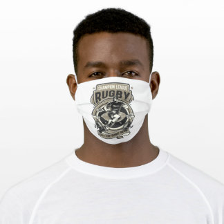 Rugby football adult cloth face mask