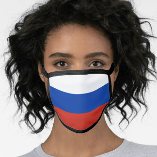 Russia & Russian Flag Mask - fashion/sports fans