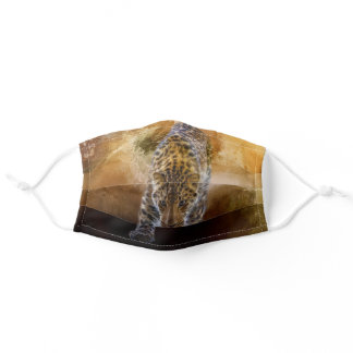 Russian Amur Leopard Adult Cloth Face Mask
