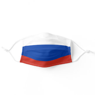 Russian flag adult cloth face mask