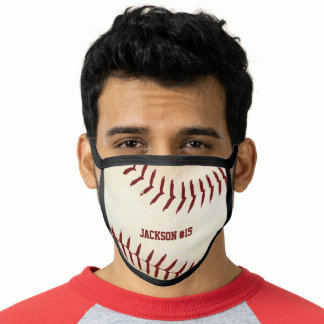 Rustic Baseball Sport Team Player Monogrammed Face Mask