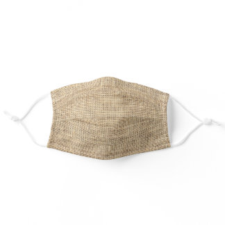Rustic Country Burlap Classic Adult Cloth Face Mask