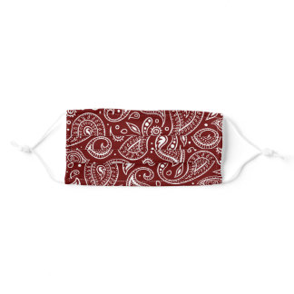 Rustic Red Paisley Adult Cloth Face Mask