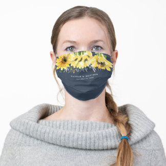 Rustic sunflower country barn botanical adult cloth face mask