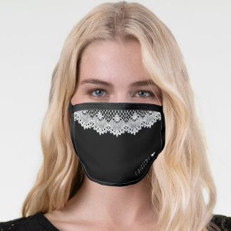 Ruth Bader Ginsburg I Dissent Lace Collar RBG Face Mask