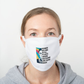 Ruth Bader Ginsburg Quote, SCOTUS, Notorious RBG White Cotton Face Mask