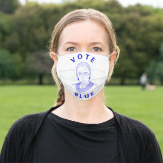 Ruth Bader Ginsburg Vote Blue Adult Cloth Face Mask