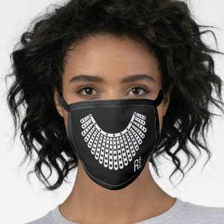 Ruth Bader White Lace Colla, Notorious RBG Face Mask