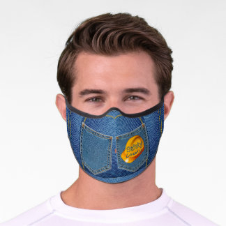 Safety Hat & Denim Look 'Safety Counts' Premium Face Mask