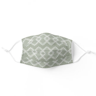 Sage Green Background Effect Adult Cloth Face Mask