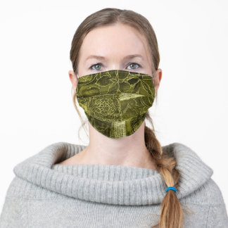 Sage Green Patchwork Fabric Texture Face Mask