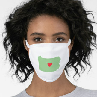 Sage Green Pennsylvania Red Heart Face Mask