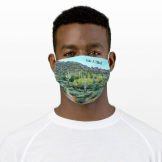 Saguaro Cactus Forest Arizona Desert Hiking Trail Adult Cloth Face Mask