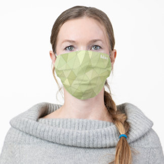 Sail-shaped lemongrass green triangles adult cloth face mask