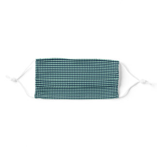 Sailor Blue and Mint Repeat Diamond Pattern Adult Cloth Face Mask
