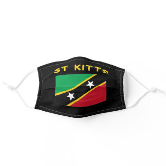 Saint Kitts And Nevis Flag Independence Caribbean Adult Cloth Face Mask