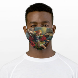 Saint Michael Protect Us Adult Cloth Face Mask