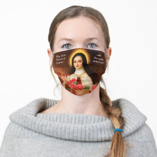 Saint Therese Protect Me Adult Cloth Face Mask