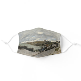 Sainte-Adresse by Monet - Boats Sea Cloudy Sky Adult Cloth Face Mask