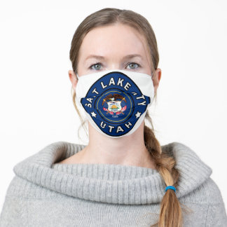 Salt Lake City Utah Adult Cloth Face Mask