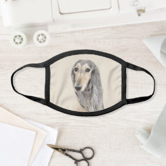 Saluki (Fawn) Painting - Cute Original Dog Art Face Mask
