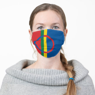 Sami people flag country symbol nation ethnic scan adult cloth face mask