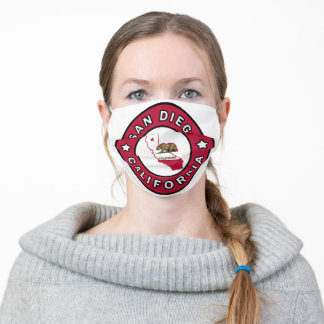 San Diego California Adult Cloth Face Mask