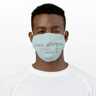San Diego Latitude Longitude Adult Cloth Face Mask