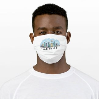 San Diego Skyline Adult Cloth Face Mask