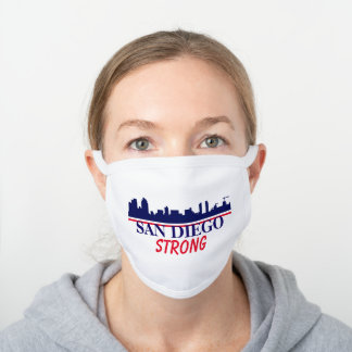San Diego Strong Skyline White Cotton Face Mask