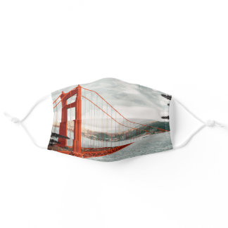 San Francisco, CA - Golden Gate Bridge Adult Cloth Face Mask