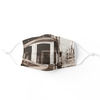 San Francisco Cable Car California Adult Cloth Face Mask