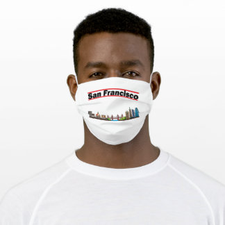 San Francisco - California City Skyline Adult Cloth Face Mask