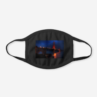 San Francisco Golden Gate Bridge #6 Black Cotton Face Mask