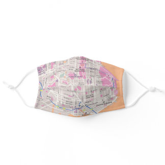 San Francisco, USA Street Map Adult Cloth Face Mask