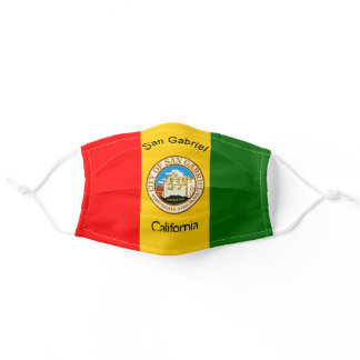 San Gabriel, California City Flag Cloth Face Mask