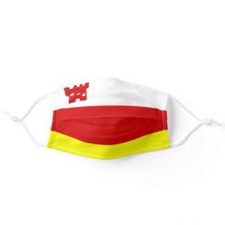 Santa Barbara, California City Flag Adult Cloth Face Mask