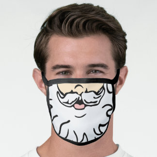 SANTA CLAUS FAKE FACE MASK FOR CHRISTMAS