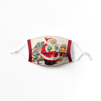 Santa Claus Page from a Vintage Storybook Kids' Cloth Face Mask