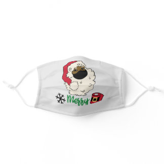Santa In Face Mask, Merry Christmas Adult Cloth Face Mask