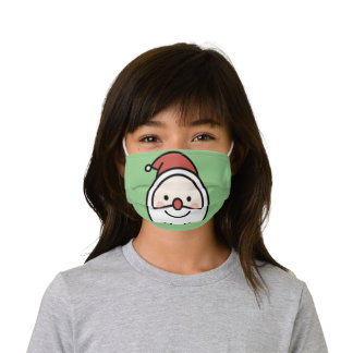 Santa's Hiding Something Cute Kids Cloth Face Mask